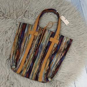 {New} Muche et Muchette Boho Chic Yarn Tote Bag
